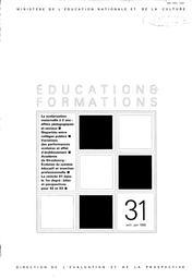 Scolarisation (la) maternelle à deux ans : effets pédagogiques et sociaux.   JAROUSSE, Jean-Pierre