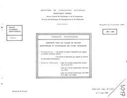 Admission dans les classes de secondes industrielles et économiques des lycées techniques publics, 1967-68. | France. Ministère de l'Education nationale (MEN)