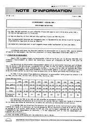 Le baccalauréat, session 1985, statistiques définitives   FLAMMANG, Béatrice