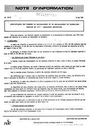 Statistiques des examens du baccalauréat et du baccalauréat de technicien, session de 1977. Résultats définitifs | France. Ministère de l'Education nationale (MEN)