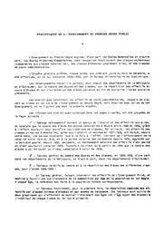 Statistiques de l'enseignement du premier degré public - année scolaire 1958-1959. | BUS