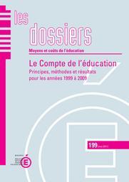 Compte (le) de l'éducation. Principes, méthodes et résultats pour les années 1999 à 2009. | BRIERE, Luc