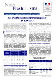 Les effectifs dans l'enseignement supérieur en 2016-2017 | LIÈVRE, Agnès