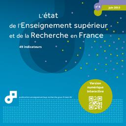 L' état de l'enseignement supérieur et de la recherche en France [2015] : 49 indicateurs / Ministère de l'enseignement supérieur et de la recherche. Sous-direction des systèmes d'information et études statistiques | KABLA-LANGLOIS , Isabelle . Directeur de publication