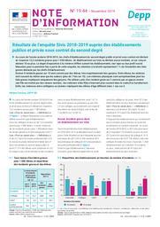 Résultats de l'enquête Sivis 2018-2019 auprès des établissements publics et privés sous contrat du second degré / Hélène Fréchou | FRECHOU, Hélène. Auteur