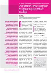 Education & Formations : L'histoire-géographie, l'éducation civique, aujourd'hui : n° 76 [décembre 2007]. article 16 / Chi-Lan Do   DO, Chi-Lan. Auteur
