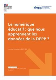 Le numérique éducatif : que nous apprennent les données de la DEPP ? / Laurène Bocognano | BOCOGNANO , Laurène . Auteur